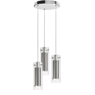 Dainolite 3-light Polished Chrome Round Pendant Clear/Clear Glass with Silk Glow Steel  sc 1 st  Overstock.com & Dainolite Ceiling Lights For Less | Overstock.com azcodes.com