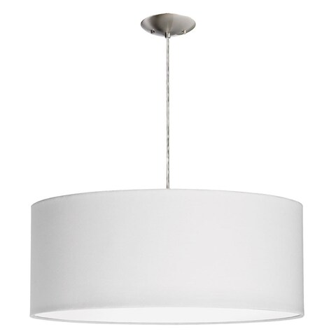 Dainolite 3-light Drum Pendant with White Shade and Diffuser