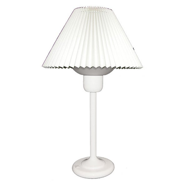 Dainolite White Table Lamp with 200 Watt Bulb included