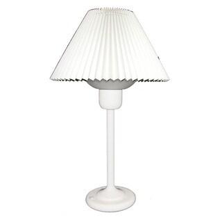 Dainolite White Table Lamp with 200 Watt Bulb included