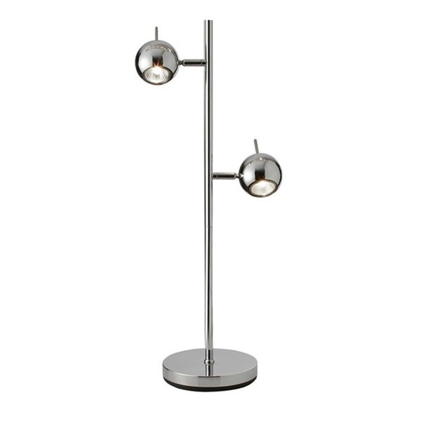 Dainolite 2-light Table Lamp in Polished Chrome