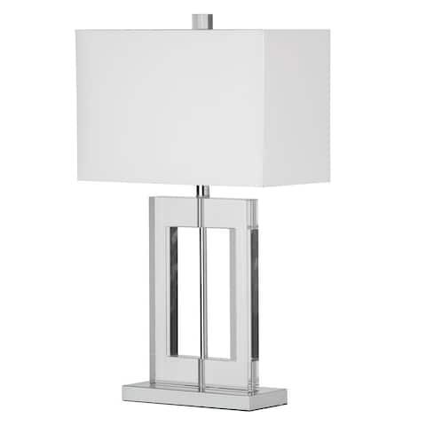 Dainolite 1-light Crystal Table Lamp in Polished Chrome Finish