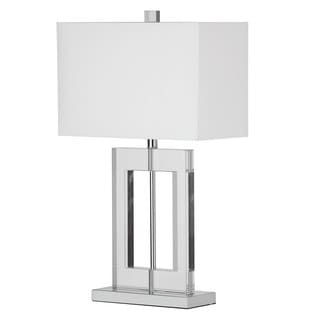 Dainolite 1-light Crystal Table Lamp in Polished Chrome Finish