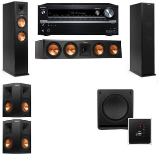 Klipsch RP-250F Tower Speakers-SW-112-5.1-Onkyo TX-NR838