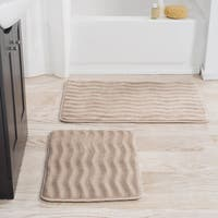 Windsor Home 2-piece Memory Foam Bath Mat Set - 24.5 x 17