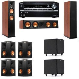 Klipsch RP-250F Tower Speakers CH-SDS12-7.2-Onkyo TX-NR838