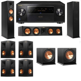 Klipsch RP-250F Tower Speakers-RP-440C-R112SW-7.2-Pioneer Elite SC-85