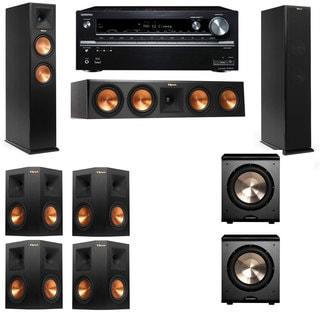 Klipsch RP-250F Tower Speakers-PL-200-7.2-Onkyo TX-NR838