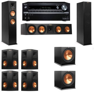 Klipsch RP-250F Tower Speakers-7.2-Onkyo TX-NR838