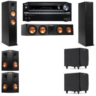 Klipsch RP-250F Tower Speakers-SDS12-5.2-Onkyo TX-NR838