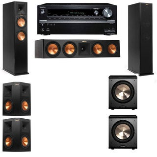 Klipsch RP-250F Tower Speakers-PL-200-5.2-Onkyo TX-NR838