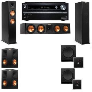 Klipsch RP-250F Tower Speakers-SW-112-5.2-Onkyo TX-NR838