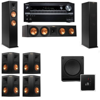 Klipsch RP-250F Tower Speakers-SW-112-7.1-Onkyo TX-NR838