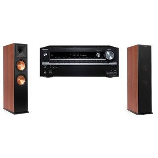 Klipsch RP-250F CH Tower Speakers-Onkyo TX-NR838