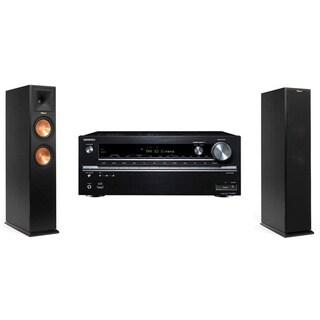Klipsch RP-250F Tower Speakers-Onkyo TX-NR838