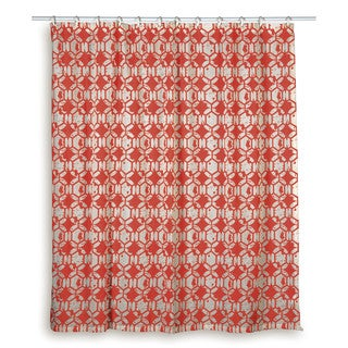 Rizzy Home Geometric Shower Curtain Blue, Red