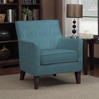 Handy Living Waldron Caribbean Blue Linen Arm Chair