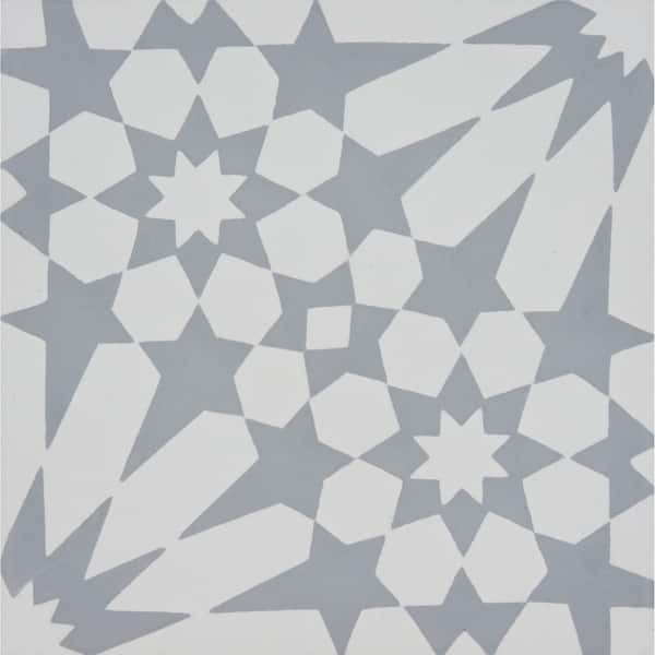 Shop Handmade Agdal In Gray Tile Pack Of 12 8 X 8