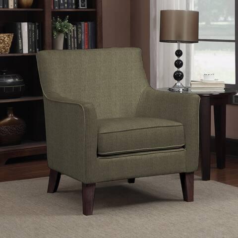 Handy Living Waldron Basil Green Linen Arm Chair