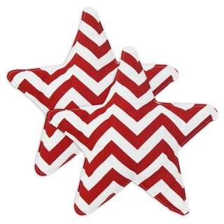 Zigzag Lipstick Star-shaped 13-inch Throw Pillow (Set of 2)