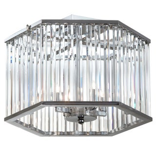 Dainolite 4-light Crystal Polished Chrome Semi Flush
