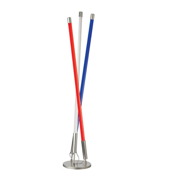 Dainolite 3-light Dainostix Floor Lamp Red in White and Blue