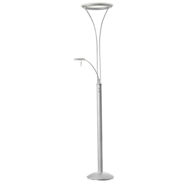 Dainolite Mother & Son LED Floor Lamp in Satin Chrome & Chrome Finish