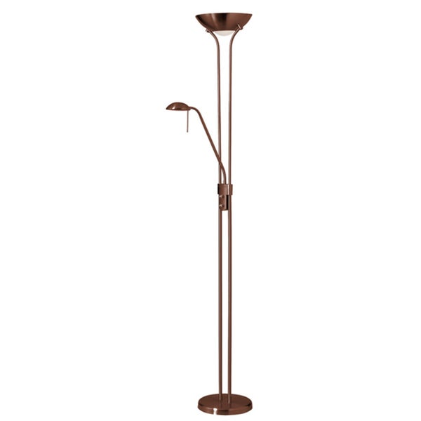 Dainolite Mother/Son Floor Lamp Oil Brushed Bronze Finish