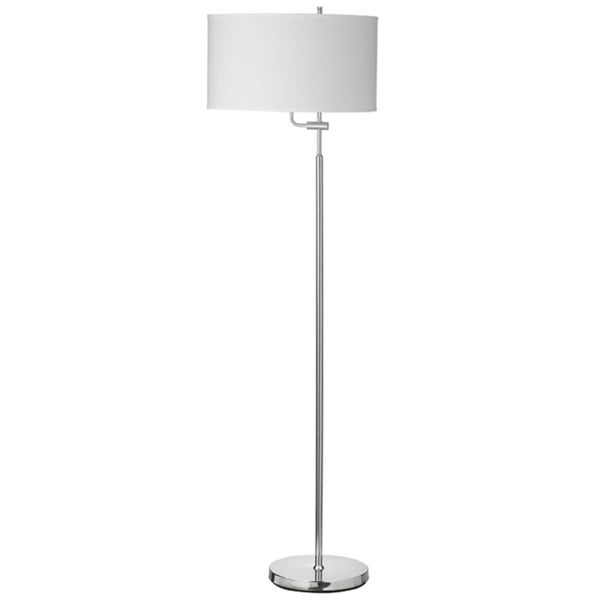 Dainolite Adjustable Floor Lamp in White Shade