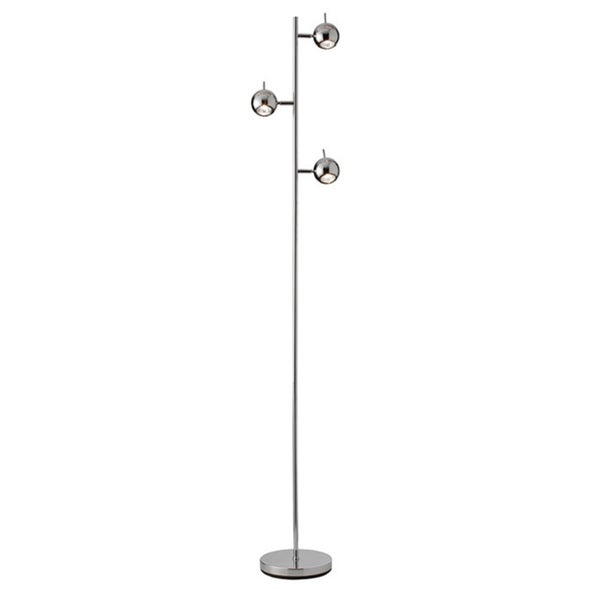 Dainolite 3-light Floor Lamp in Polished Chrome