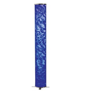 Dainolite Decorative Floor Lamp with Blue Ice Shade