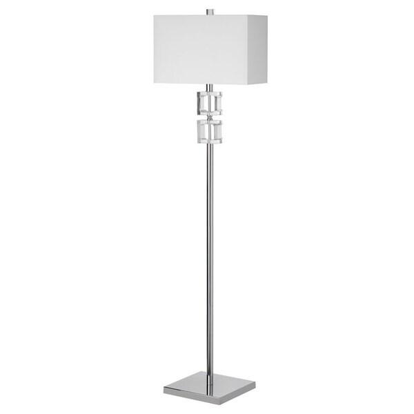 Dainolite 1-light Crystal Floor Lamp in Polished Chrome Finish