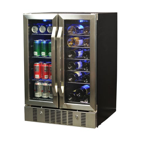 NewAir 18 Bottle/ 52 Can, Dual Zone Wine and Beverage Cooler
