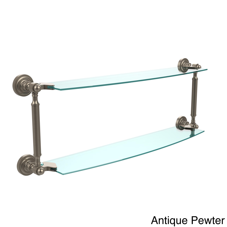 Allied Brass Dottingham Collection 24-inch 2-tiered Glass Shelf   eBay