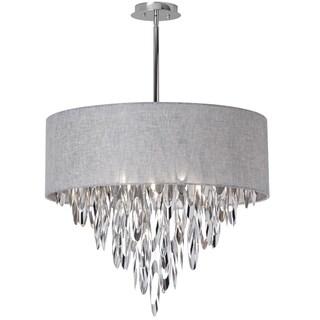 Dainolite 8-light Chandelier with Grey Shade