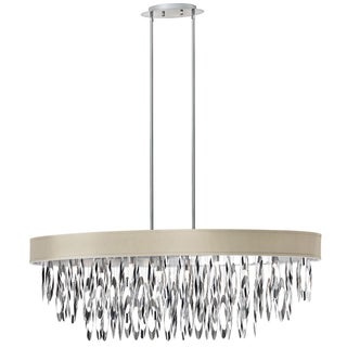 Dainolite 8-light Oval Chandelier with Pebble Shade