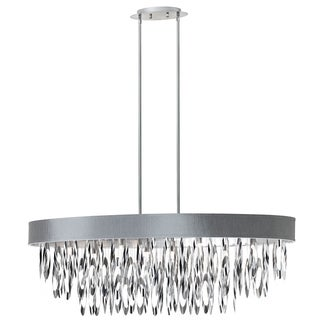 Dainolite 8-light Oval Chandelier with Silver Shade Polished Chrome Finish
