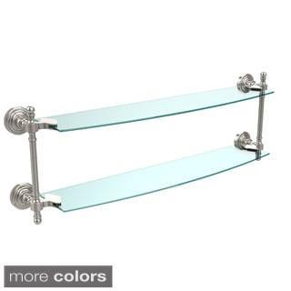 Retro Wave Collection 24-inch 2-tiered Glass Shelf