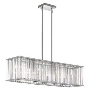 Dainolite 7-light Horizontal Crystal Chandelier Polished Chrome Finish