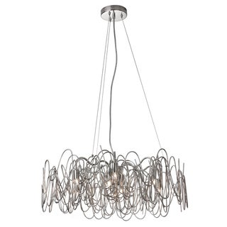 Dainolite 6-light Chandelier Burnished Nickel Finish