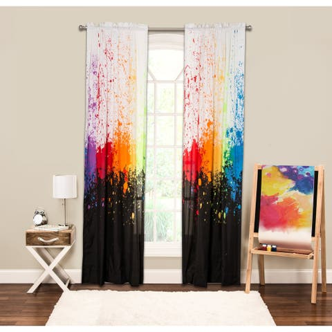 "Crayola Cosmic Burst Single Rod Pocket 84-inch Window Panel - 50""x84"""