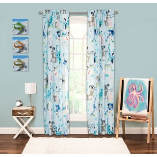 Crayola Chase Your Dreams Blue/Grey/White 84-inch Window Panel