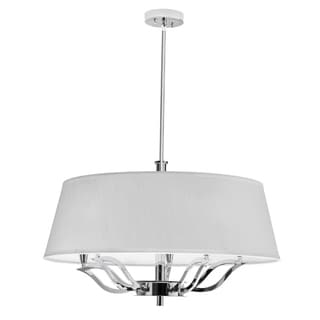 Dainolite 5-light Chandelier in Ivory Shade with Polished Chrome Finish