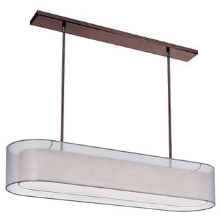 Dainolite 4 Lite Oil Brushed Bronze Pendant with Double Shade Silver & Cream with 720 Diffuser