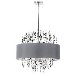 Dainolite 8-light Crystal Chandelier with Silver Shade