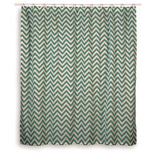 Rizzy Home Chevron Shower Curtain