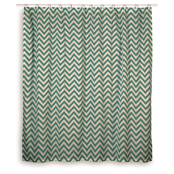 Rizzy Home Chevron Shower Curtain Free Shipping Today Overstock