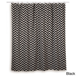 Rizzy Home Chevron Shower Curtain