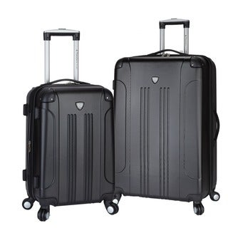 Link to Travelers Club Chicago 2-piece Expandable Hardside Spinner Luggage Set Similar Items in Luggage Sets