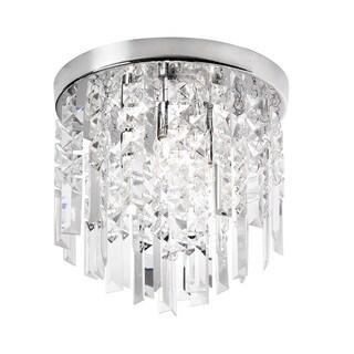Dainolite 3-light Crystal Polished Chrome Flush Mount Fixture in Polished Chrome